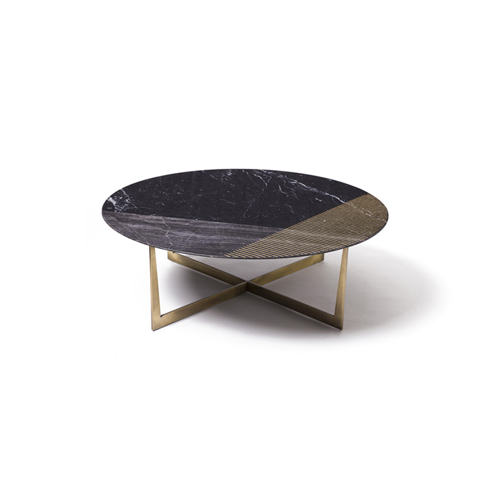 Gold Radius Coffee Table