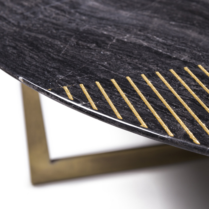 Gold Radius Coffee Table details
