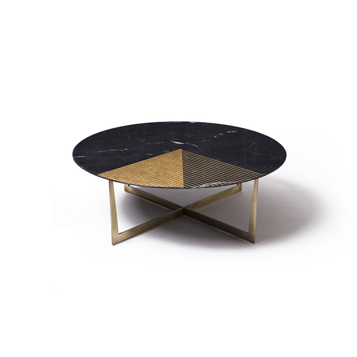 Gold Radius handmade coffee table