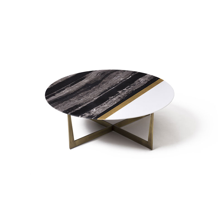 Slice of Jupiter coffee table made of marble